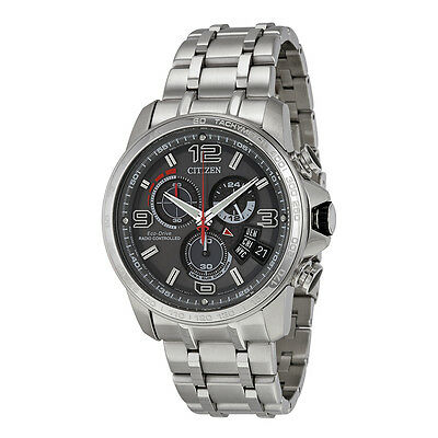 Citizen Eco-Drive A-T Men's BY0100-51H  Refurbished Chronograph Alarm 44mm Watch