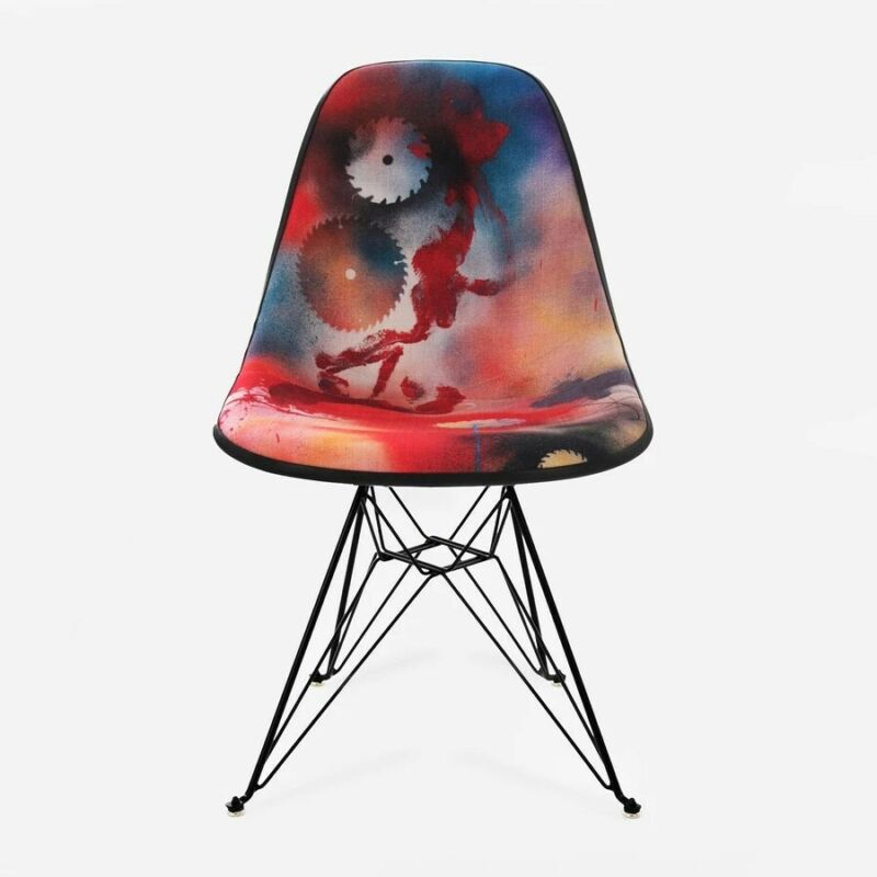 FUTURA2000 x Modernica Bedford Ave and East Broadway Upholstered Side Shell Eiff
