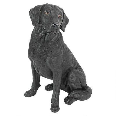 Black Labrador Retriever Puppy Dog Statue Home Garden Sculpture for sale  Shipping to Canada