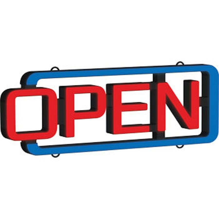 "CM Global MystiGlo LED ""OPEN"" Sign with Remote Open Business Sign"