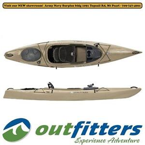 """""""Pungo 120 Angler"""" Fishing Kayak by Wilderness Systems for Sale  - """"Olive"""" - Stock# 76080"""