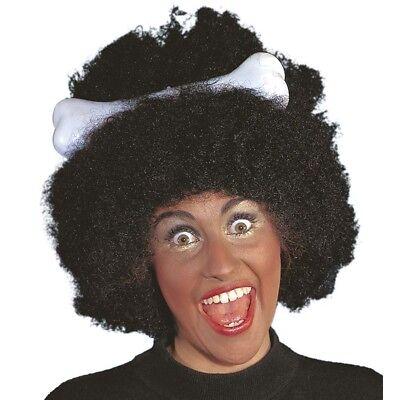 AFRO PERÜCKE SCHWARZ Karneval Kanibale Höhlenmensch Cavewoman Wilder Kostüm - Schwarz Afro Perücke Kostüm