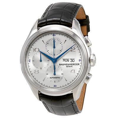 Baume et Mercier Clifton Automatic Chronograph Silver Dial Mens Watch MOA10123