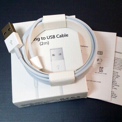 Apple Lightning To USB Cable 1M, iPhone Charger Cable 2M Charging Lead XS 8 7 6