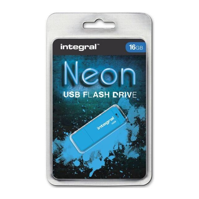 Integral 16GB Neon USB Stick - blau