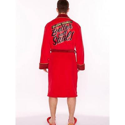 Better Call Saul Adult Bathrobe Dressing Gown Red Boxing Fleece Winter clothes