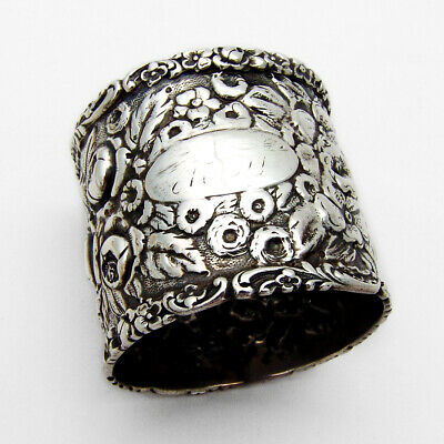 Stieff Rose Wide Napkin Ring Sterling Silver No Monogram