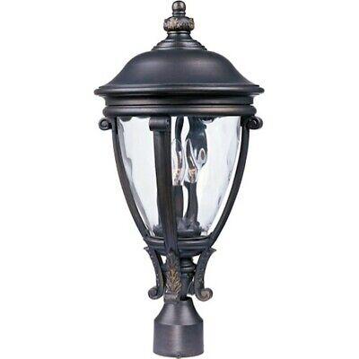 - Maxim Camden VX 3-Light Outdoor Post Lantern Golden Bronze - 41421WGGO