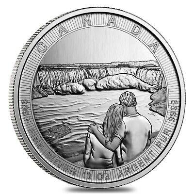 2017 10 Oz Silver Canada The Great Ctg Niagara Falls  50 Coin