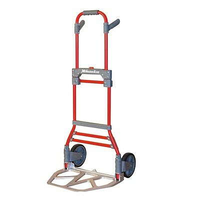 Milwaukee 300-lb Capacity Red Aluminum Folding Hand-cart Truck Dolley New