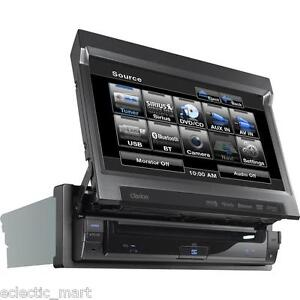 CLARION-VZ401-IN-DASH-FLIP-OUT-7-DVD-MP3-AUX-USB-IPOD-BLUETOOTH-RECEIVER