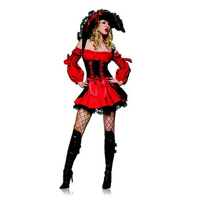 Leg Avenue Sexy Swashbuckler Vixen Pirate Wench Women's Costume - Medium 83157 - Leg Avenue Pirate Wench Costume
