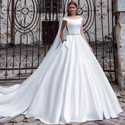 Wedding Dresses Bridal Ball Gowns White Ivory Off Shoulder Elegant Princess 2019