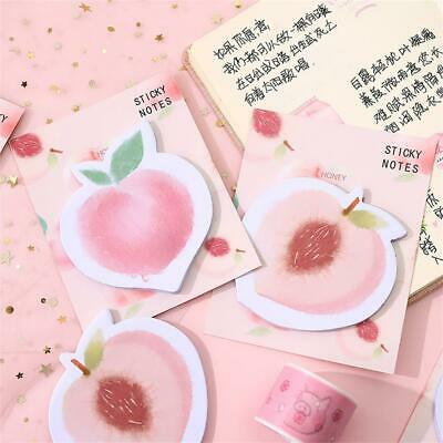 30pcs Kawaii Cute Peach Memo Pad N Times Sticky Notes Notepad School Supplies
