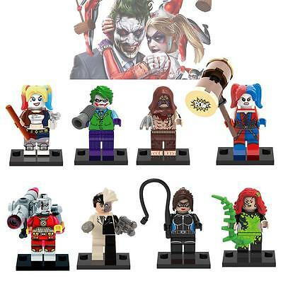 DC Suicide Squad Custom Mini Figures Set of 8 - fit Lego & other blocks