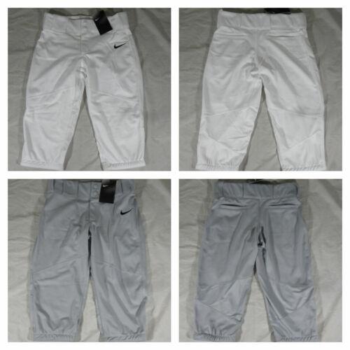 New Youth Boys Nike Stock Vapor Pro High Baseball Pants Gray White AQ7976 $40