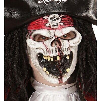 SKELETT PIRATEN MASKE KINDER Halloween Karneval Totenkopf Zombie Monster # 00354 ()