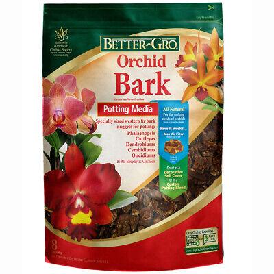 All Epiphytic Orchids Potting Soil Mix Organic Orchid Bark BETTER-GRO 8-Quart