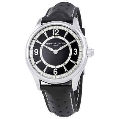 Frederique Constant Horological Smartwatch Black Leather Smart Watch FC-282AB5B6