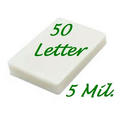 50 Letter 5 Mil Laminating Pouches Laminator Sheets 9 X 11-12 Scotch Quality