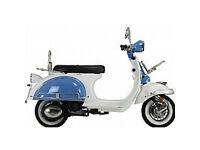 Almost new 50 cc Modena Vespa style scooter- 56 miles on clock