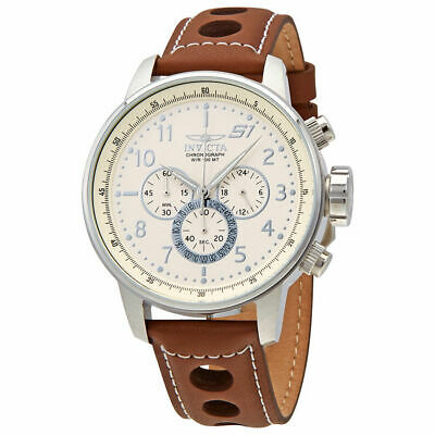 Invicta 25724 S1 Rally Chronograph Men's Brown Leather Watch