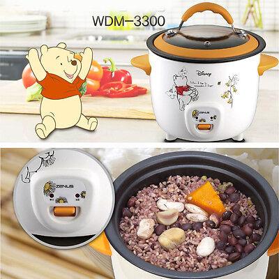 Disney Rice Cooker Mini for Single Food Steamer Multi-Purpos