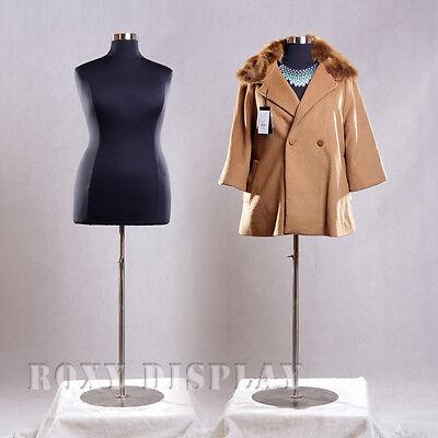 Female Plus Size 18-20 Mannequin Manequin Manikin Dress Form F1820bkbs-04