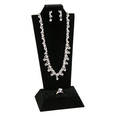 Classic Black Combination Earring Pendant Ring Mini Display Set Jewelry Displays