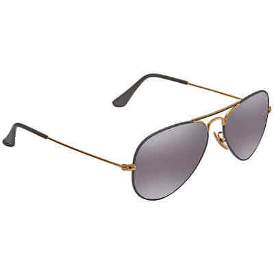 Ray Ban Grey Gradient Mirror Aviator Unisex Sunglasses RB3025 9154AH 55