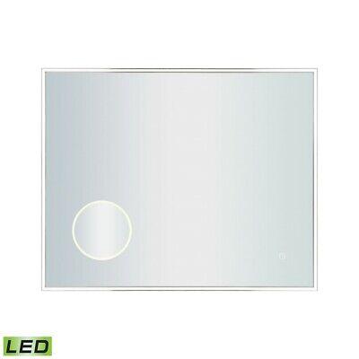 30x24 led mirror w 3x magnifier polished