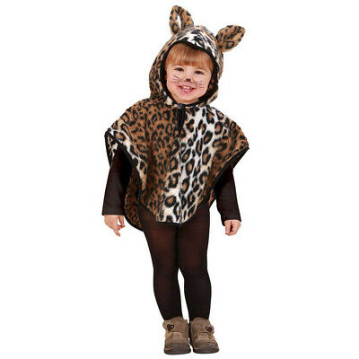 LEOPARD KOSTÜM KLEIN KINDER Karneval Fasching Party Baby Tier Umhang Poncho -