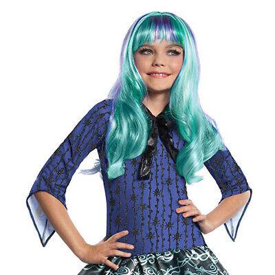 KINDER MONSTER HIGH TWYLA PERÜCKE # Halloween Karneval Kostüm Party Meerjungfrau