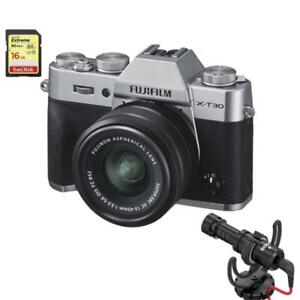 Fujifilm X-T30 Kit with 15-45mm OIS + Rode Microphone, Sandisk Card *PRE-ORDER Bundle*(XT30)