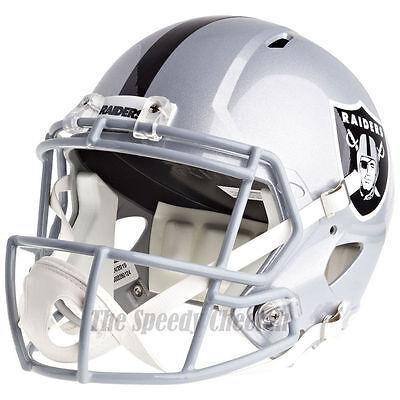 Raiders Helmet (OAKLAND RAIDERS RIDDELL SPEED NFL FULL SIZE REPLICA FOOTBALL)