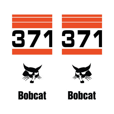 Bobcat 371 Skid Steer Set Vinyl Decal Sticker - Free Shipping