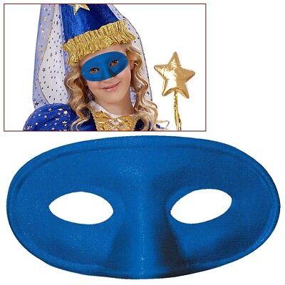BLAUE KINDER AUGENMASKE Karneval Venedig Maskenball Prinzessin Kostüm Maske - Maskenball Kostüm Kinder