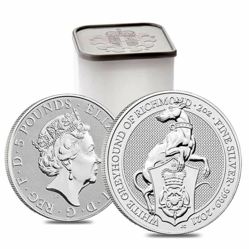 Roll of 10 - 2021 Britain 2 oz Silver Queen
