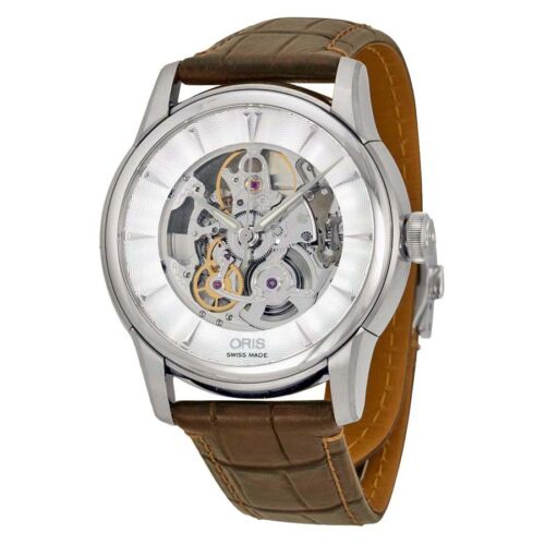 Oris Artelier Automatic Skeleton Dial Stainless Steel Mens Watch 73476704051 - watch picture 1
