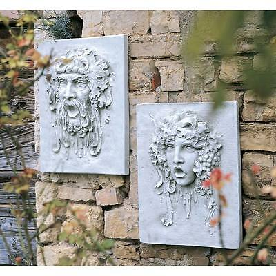 S/ Opimus & Vappa Plaques Large Design Toscano Italian Plaques  Garden Plaques