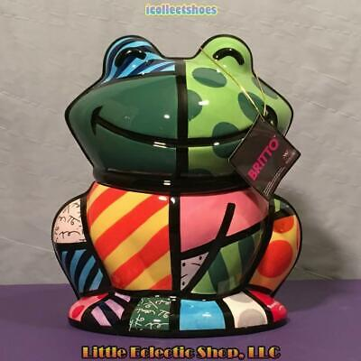 Romero Britto by Westland 22010 FROG Ceramic Cookie Jar, 9.5 inches tall, BNIB