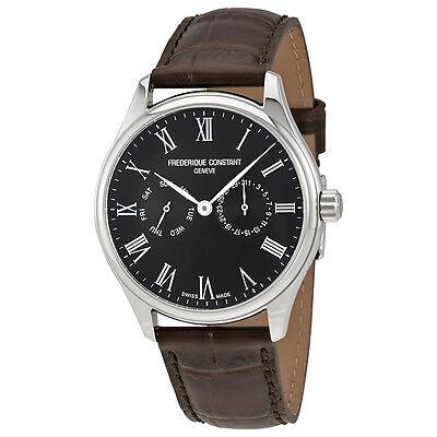 Frederique Constant Classics Black Dial Men's Leather Watch FC-259BR5B6-DBR
