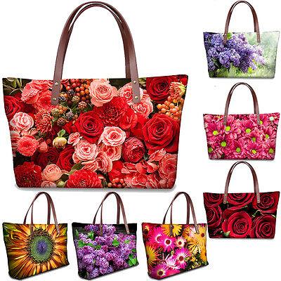 Ladies Womens Floral Designer Shoulder Bag Summer Hand Tote Shopping Handbag Designer Handbags Shop