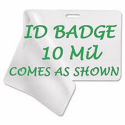 Id Badge Laminating Laminator Pouches Sheets 2.56 X 3.75 10 Pk With Slot 10 Mil