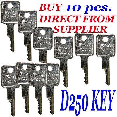 10 D250 Case-ih Bobcat Ingersol-rand Equipment Ignition Start Starter Keys