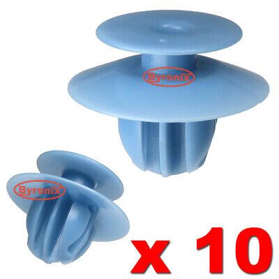 WHEEL ARCH TRIM CLIPS FOR MITSUBISHI L200 EXTERIOR PLASTIC OVER FENDER BLUE X 10