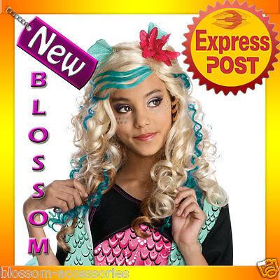 W159 Lagoona Blue Monster High Girls Fancy Dress Halloween Party Costume Wig