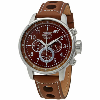 Invicta 25726 S1 Rally Chronograph Brown Dial Mens Watch