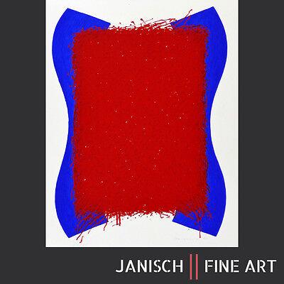 BERND BERNER - Farbsiebdruck, handsigniert, Auflage 25, 1965 - 64,5 x 50 cm !