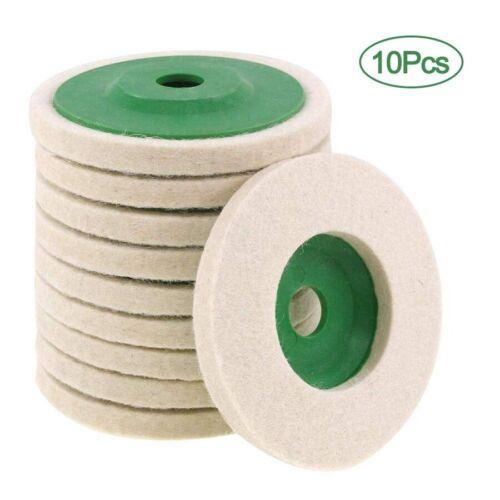 10Pcs 100mm 4 Inch Wool Buffing Angle Grinder Wheel Felt Polishing Disc Pad A715